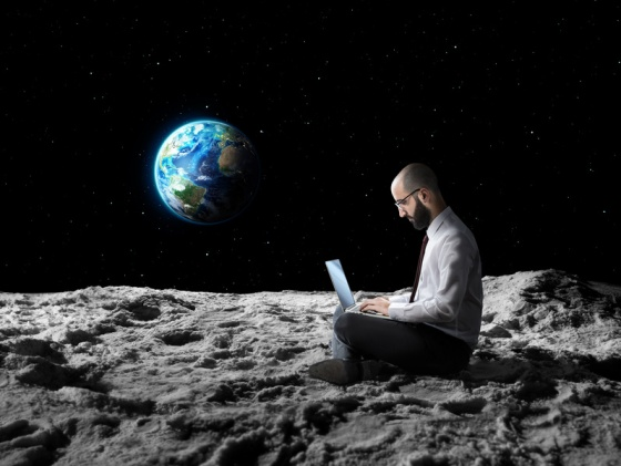 remote work or global wi-fi internet connection